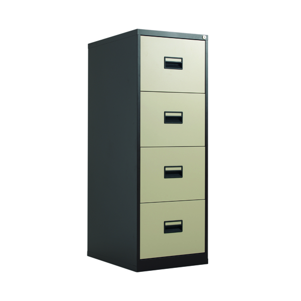 Talos 4 Drawer Filing Cabinet Coffee Cream