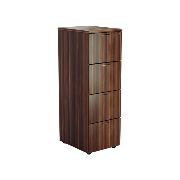 Jemini Walnut 4 Drawer Filing Cabinet
