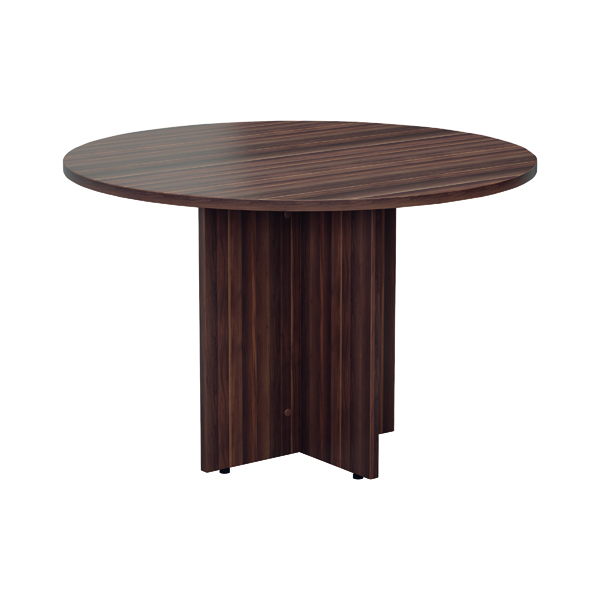 Jemini Walnut Round D1200 Meeting Table (1200mm diameter, 730mm height)