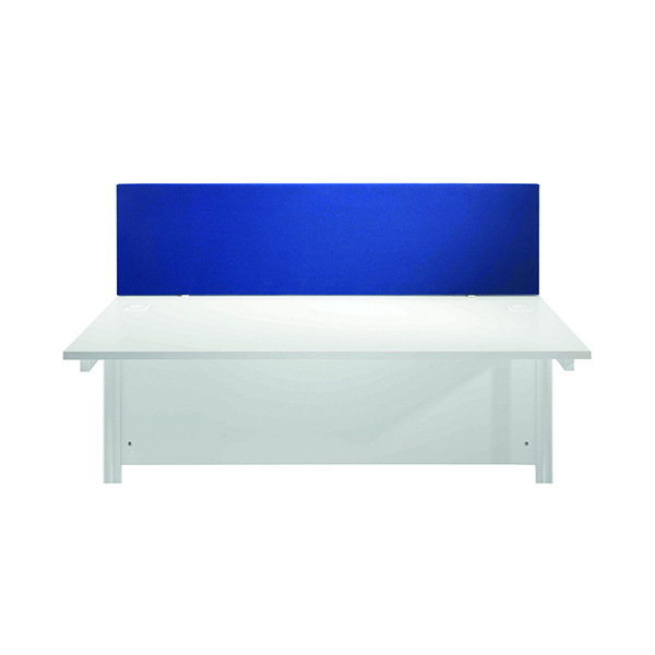 Jemini Blue 1200mm Straight Desk Screen (Dimensions: 1200mm x 28mm x 400mm)