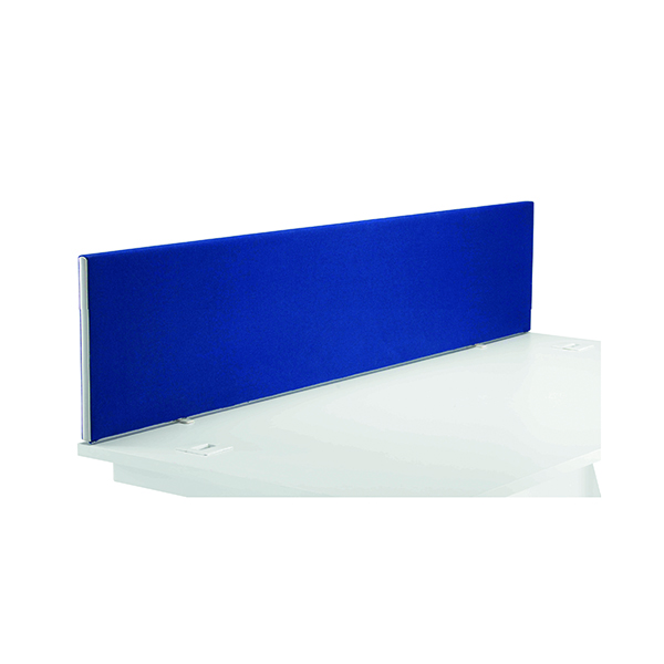 Jemini Blue 1800mm Straight Desk Screen (Dimensions: 1800mm x 28mm x 400mm)