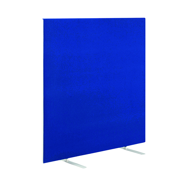 Jemini Blue 1200mm Floor Standing Screen (Dimensions: W1600 x D28 x H1200mm)