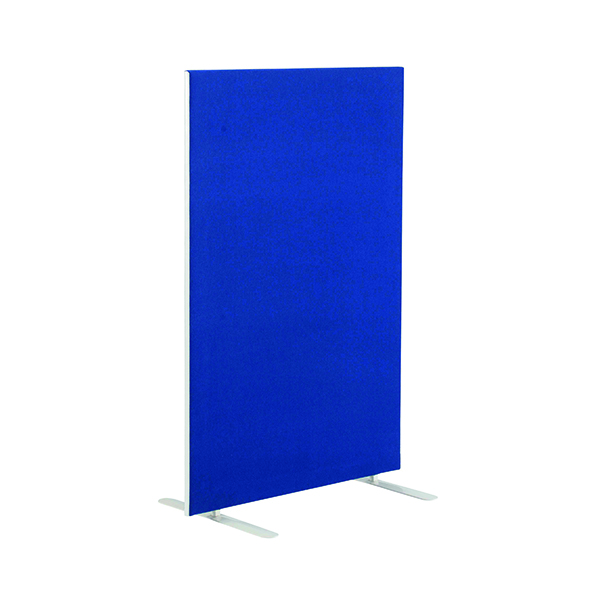 Jemini Blue 1600mm Floor Standing Screen (W1200 x D28 x H1600mm)