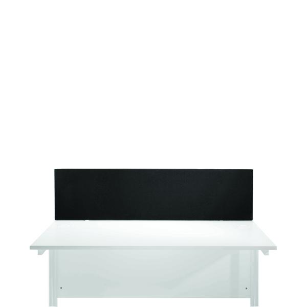Jemini Black 800mm Straight Mounted Desk Screen
