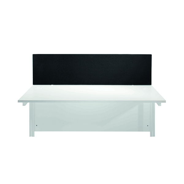 Jemini Black 1200mm Straight Mounted Desk Screen