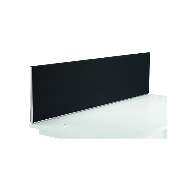 Jemini Black 1600mm Straight Mounted Desk Screen