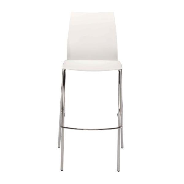 FF Jemini White Tall Bistro Chair