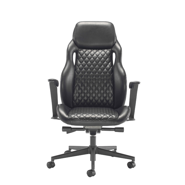 Arista Svelto Leather Look Executive Chair Black