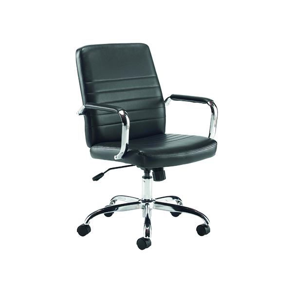 Jemini Amalfi Leather Look Meeting Chair Black