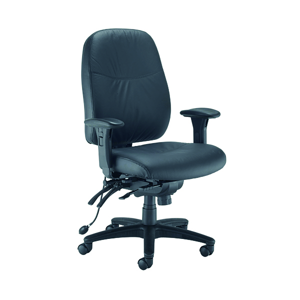 Avior Snowden Heavy Duty Chair Black PU (Adjustable seat height - 485 - 585mm)