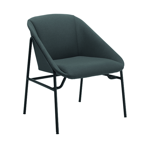 Jemini Grey Bistro Reception Armchair