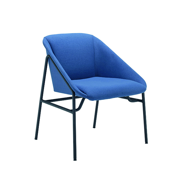 Jemini Navy Bistro Reception Armchair