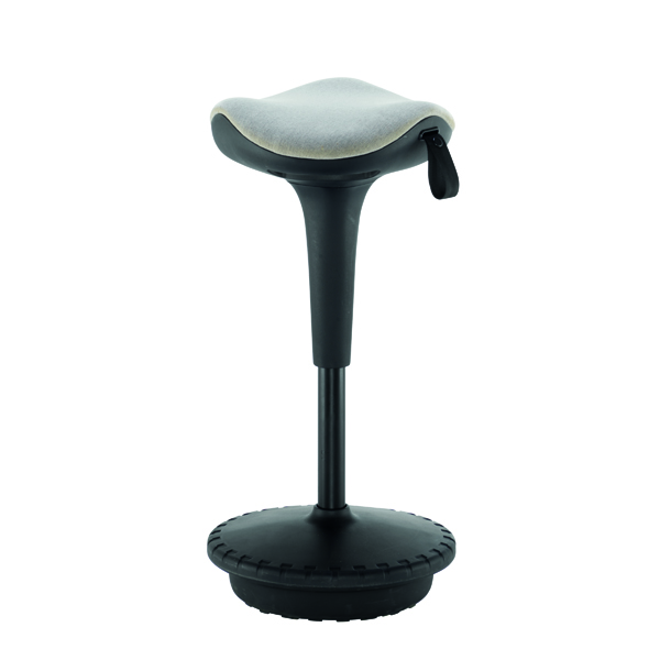 Jemini Height Adjust Sit Stand Sway Wobble Stool Black/Blue