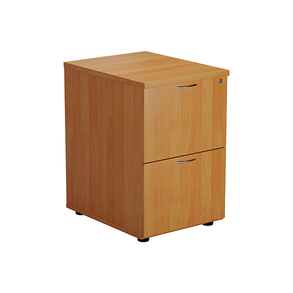 Jemini Beech 2 Drawer Filing Cabinet Version 2 TES2FCBE2