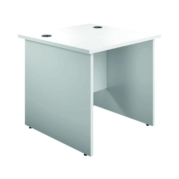 Serrion Eco 18 Rectangular Panel End Desk 1000 x 750mm White