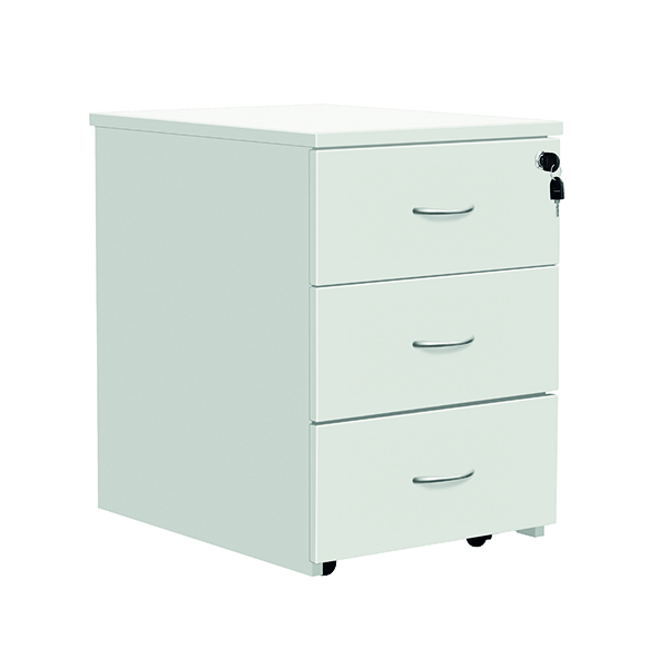 Serrion Eco 18 3 Drawer Mobile Pedestal White