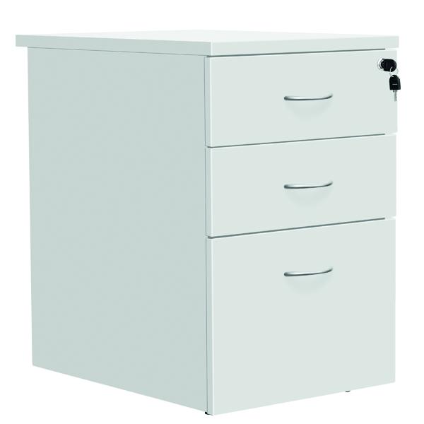 Serrion Eco 18 Desk High Pedestal D800mm White