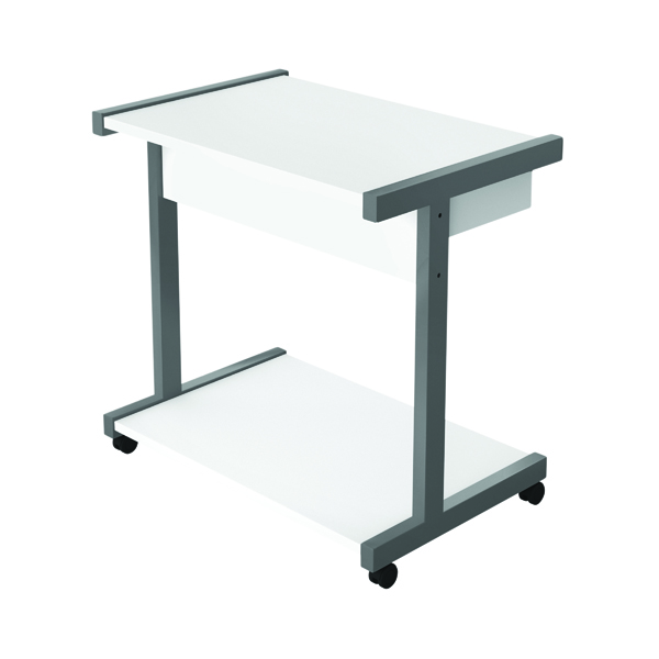 Image for Serrion Mobile PC/Printer Stand White EMPSWH