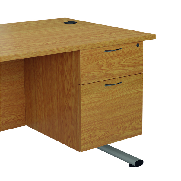 Jemini Beech 2 Drawer Fixed Pedestal