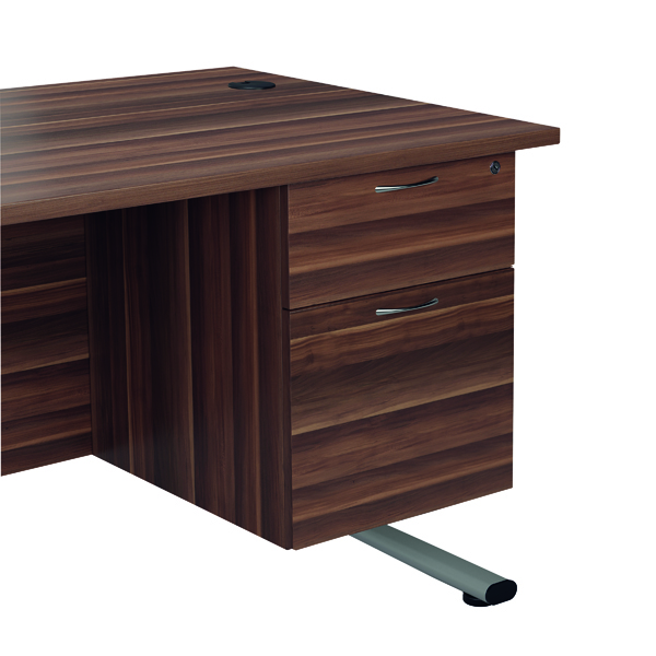 Jemini Dark Walnut 2 Drawer Fixed Pedestal