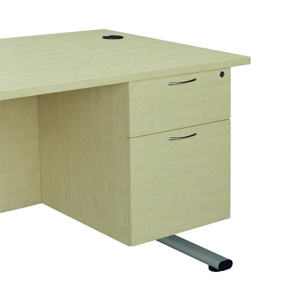 Jemini Maple 2 Drawer Fixed Pedestal