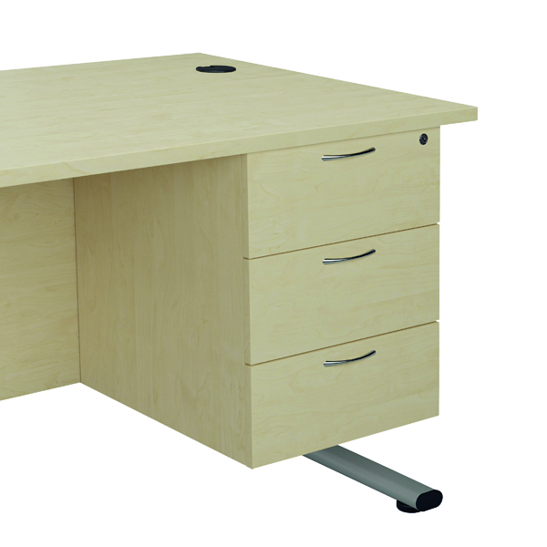 Jemini Maple 3 Drawer Fixed Pedestal TESHP3MA
