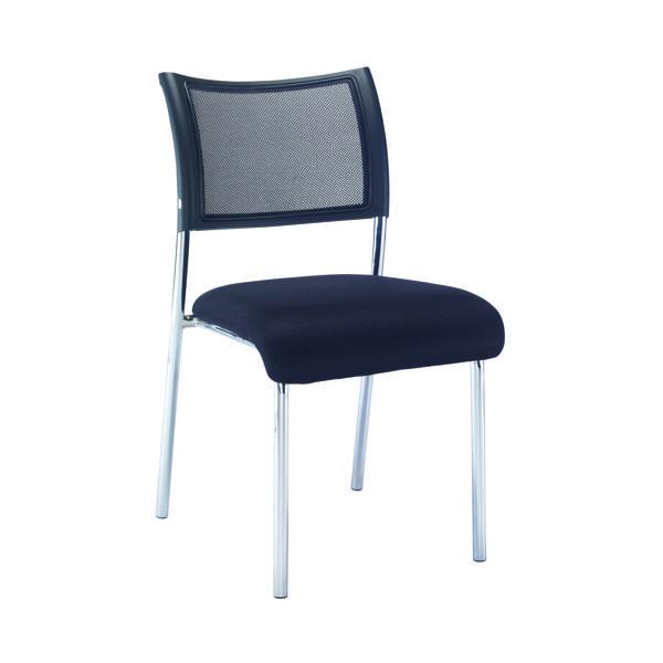 Jemini Jupiter Mesh Back Conference 4 Leg Side Chair W/Chrome Frame
