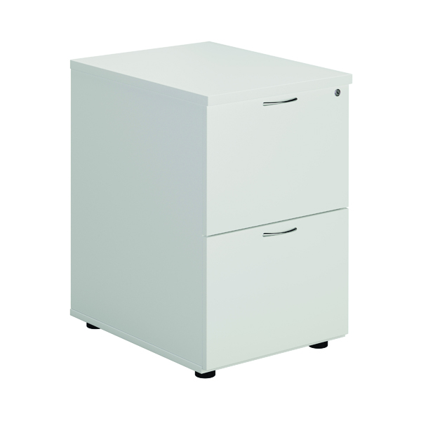 First White 2 Drawer Filing Cabinet