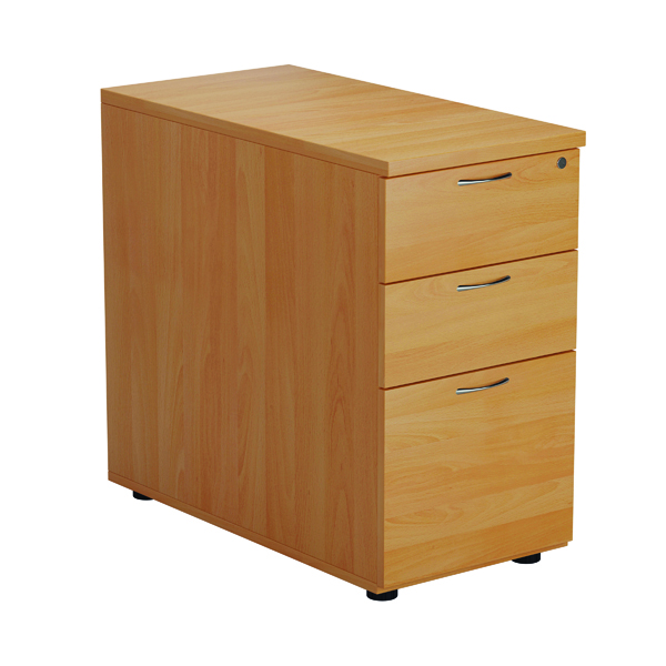 First Desk High 3 Drawer Pedestal 800mm Deep Beech