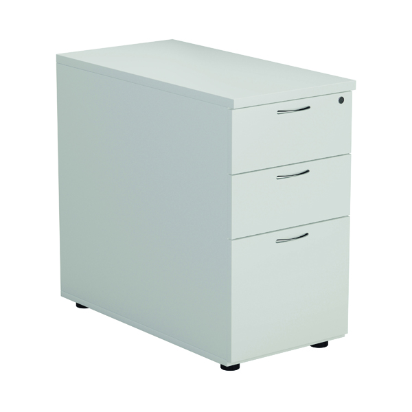 First Desk High 3 Drawer Pedestal 800mm Deep White