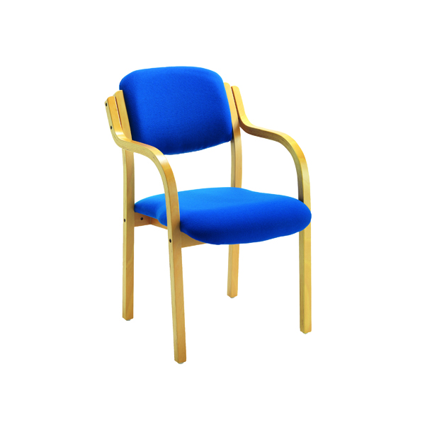 First Wooden Frame Side Chair with Arms Blue CH0706RBV2