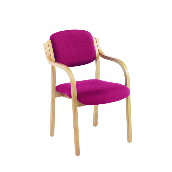 First Wooden Frame Side Chair with Arms Claret CH0706CL