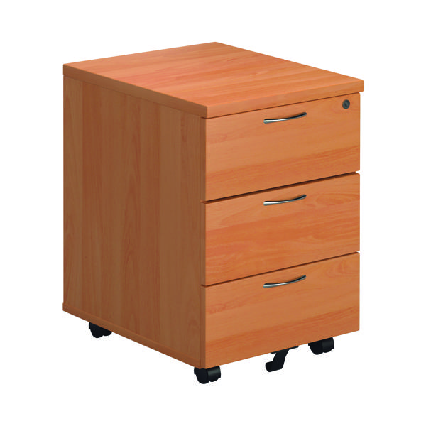 First 3 Drawer Mobile Pedestal Beech Version 2 TESMP3BE2