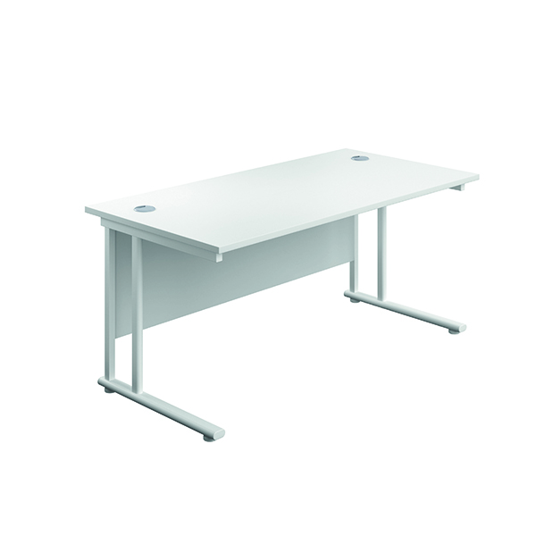 Serrion Rectangular Cantilever Desk 1200mm White