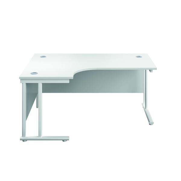 Serrion Left Hand Radial Cantilever Desk 1200mm White
