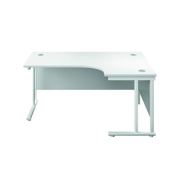 Serrion Right Hand Radial Cantilever Desk 1200mm White