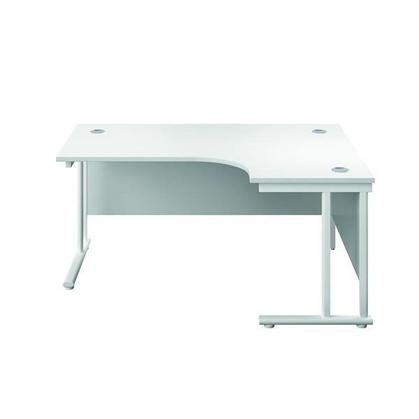 Serrion Right Hand Radial Cantilever Desk 1500mm White