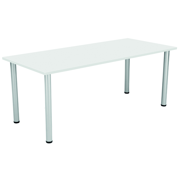 Serrion Rectangular Meeting Table White