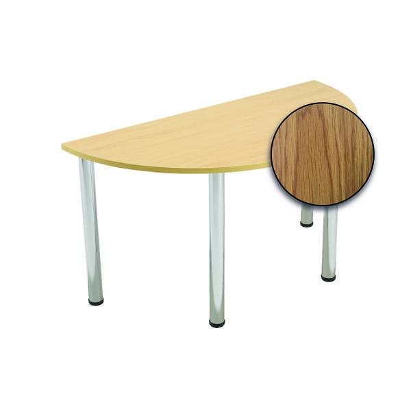 Serrion Semi-Circular Meeting Table Oak