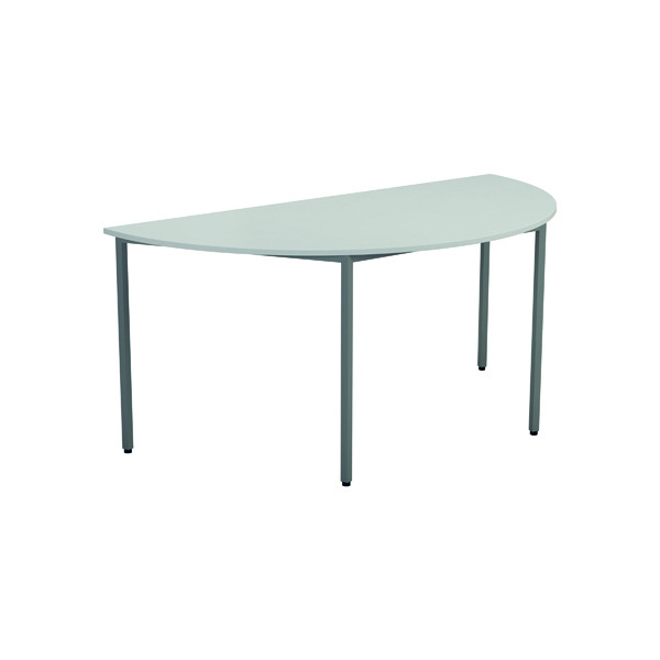 Serrion Semi-Circular Meeting Table White