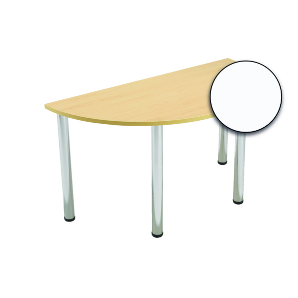 Serrion Semi-Circular Meeting Table White