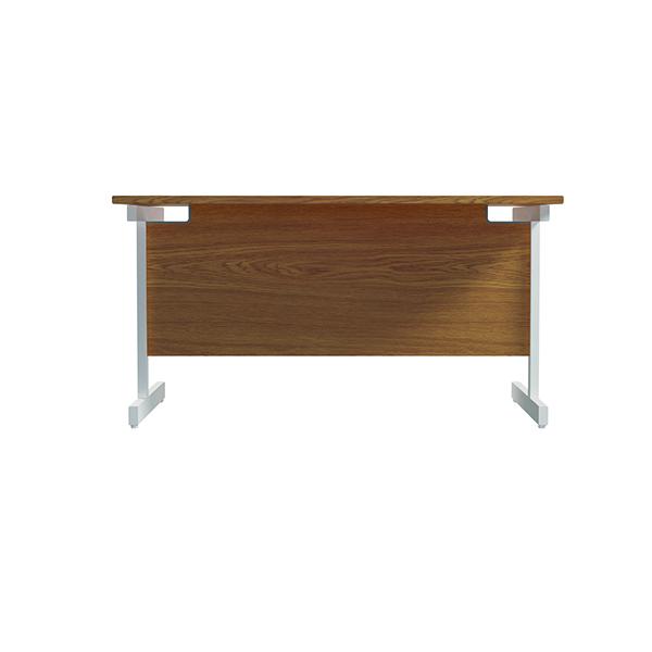 Jemini Single Rectangular Desk 1200x800mm Nova Oak/White