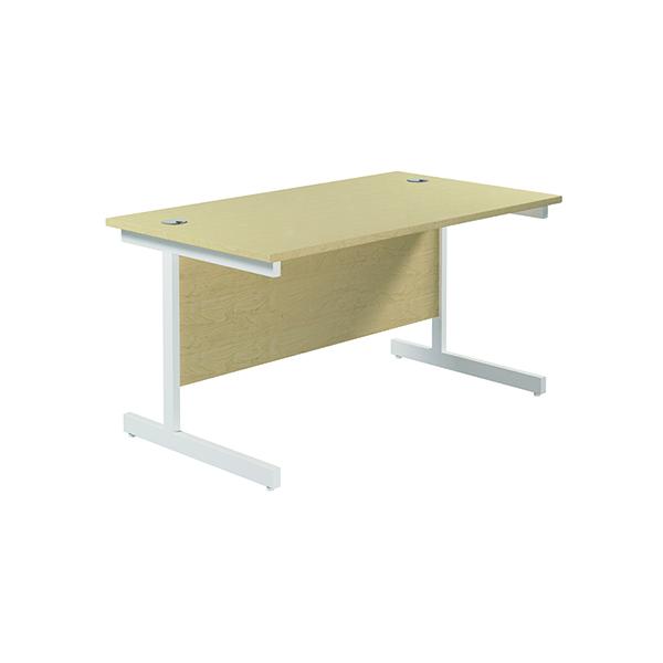 Jemini Single Rectangular Desk 1200x800mm Maple/White