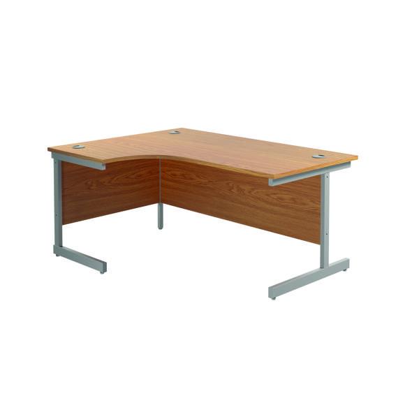 Jemini Left Hand Radial Desk 1800x1200mm Nova Oak/Silver
