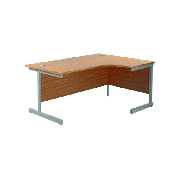 Jemini Right Hand Radial Desk 1800x1200mm Nova Oak/Silver