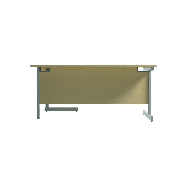 Jemini Right Hand Radial Desk 1800x1200mm Maple/Silver
