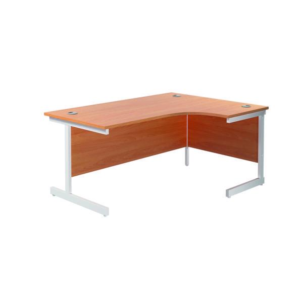 Jemini Right Hand Radial Desk 1800x1200mm Beech/White