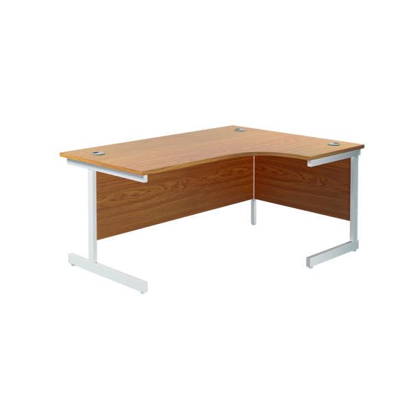 Jemini Right Hand Radial Desk 1800x1200mm Nova Oak/White