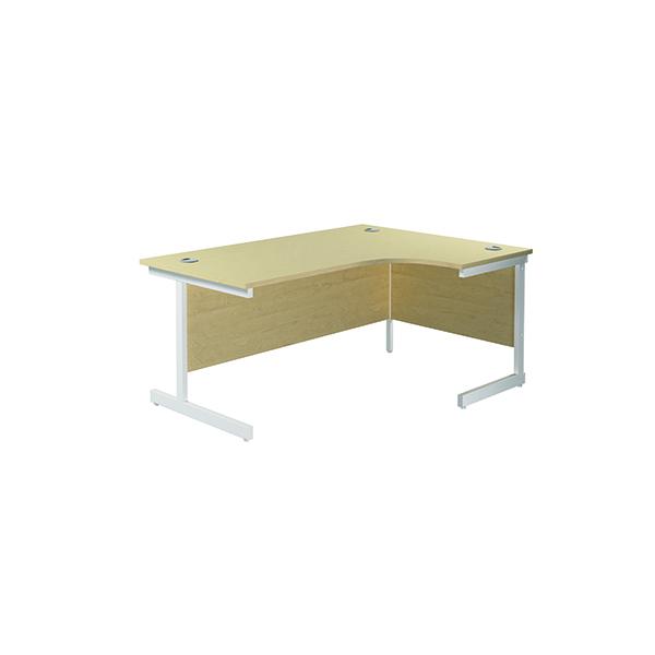 Jemini Right Hand Radial Desk 1800x1200mm Maple/White