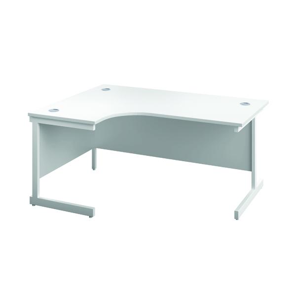 First Left Hand Radial Desk 1600x1200mm White/White